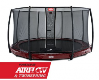 PROFI BERG InGround Elite RED 380 cm + síť DELUXE + DOPRAVA ZDARMA